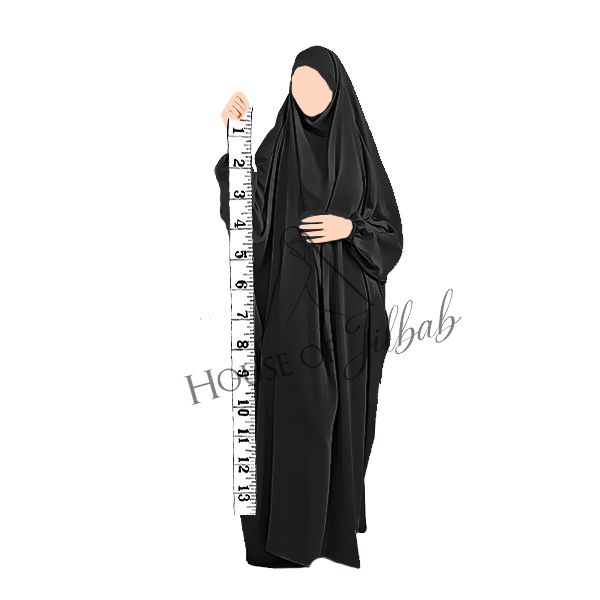 Part 1 : Sizes/Measurements – How to choose the right Jilbab ( or Niqab, Khimar and Abaya)
